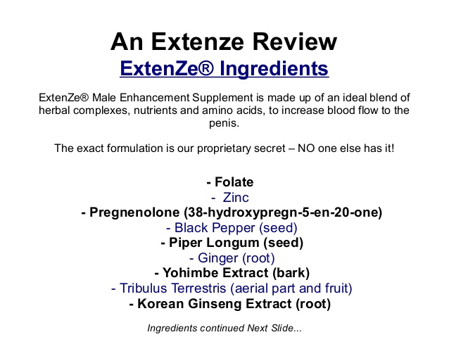 Extenze Recreational Use